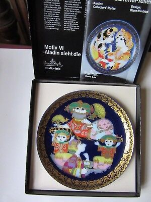 Rosenthal Bjorn Wiinblad Plaque Murale Aladin Aladdin No. 6 with box & leaflet