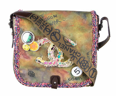 3ab5d1268bc2 CHANEL Multi Color Canvas Washed Toile Graffiti On The Pavements Messenger  Bag