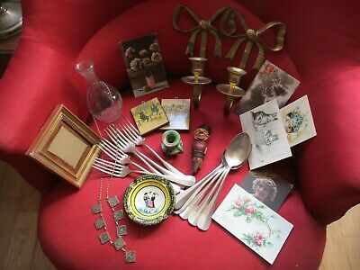 lot brocante divers objets anciens collections