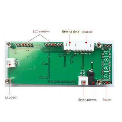CN_ 0.1MHz-1200MHz RF Signal Frequency Counter Cymometer for Ham Radio Green