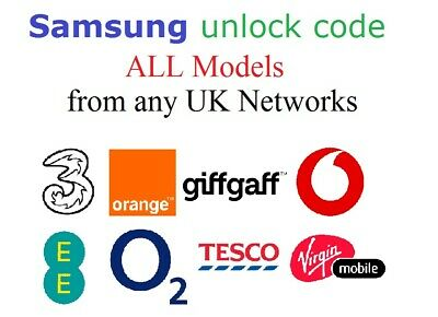 Unlock Code for Samsung Galaxy A1 A3 A5 A7 A8 A9 For Vodafone EE O2 Tesco Orange