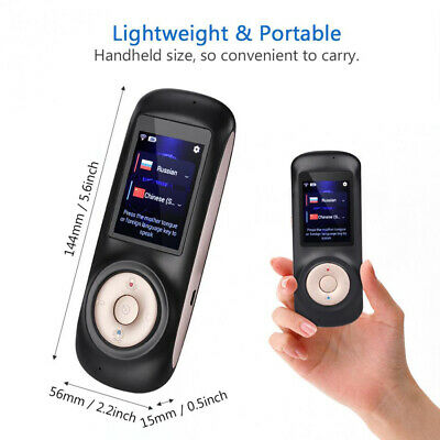 Mini Interactive Wireless Instant Real Time Voice Translator Smart 52 Languages