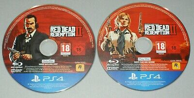 Red Dead Redemption II Disc Only - PS4 PlayStation 4 Game - 2 discs Play & Data