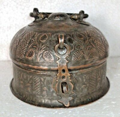 Old Beautiful Original Islamic Copper Pan Dan Betel Box with Bowls and Box