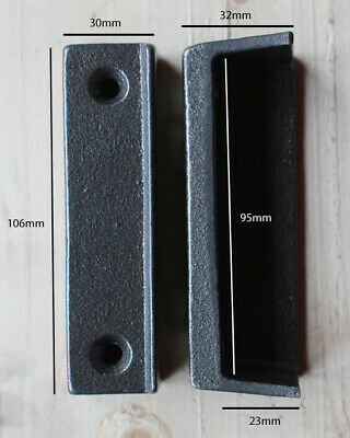 CAST IRON RIM LOCK DOOR KEEP 106mm ~ BRITISH MADE VICTORIAN RIMLOCK KEEPS ~ KP03