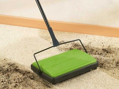 Handy Floor Carpet Sweeper Manual Cleaner Brush Lightweight Green ✅WENKO