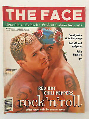 The Face Magazine August 1992 Red Hot Chilli Peppers Cover
