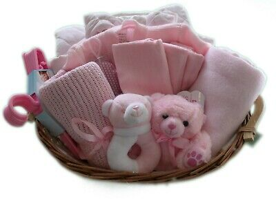 Baby Girl Gift Basket / Hamper - Baby Shower / Christening / New Baby
