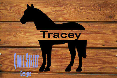 Monogrammed Personalized Standing Horse - Vinyl Decal - Free Shipping #26