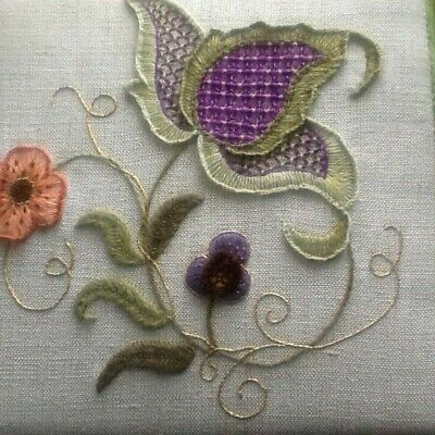 Jacobean Study 1-a crewel embroidery kit from the Needlewoman Studio