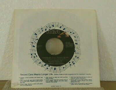"ELVIS PRESLEY 45 Teddy Bear b/w Loving You RCA 7"" vinyl good condition"