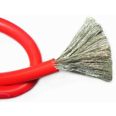 2/4/6/7/8/10-20/22/24/28/30AWG Flexible Silicone Cable 0.08mm RC Cable Red Wire