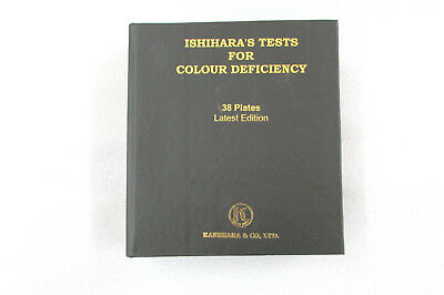 Brand New Ishihara Test Book 38 Plate For Color Blindness Ophthalmology
