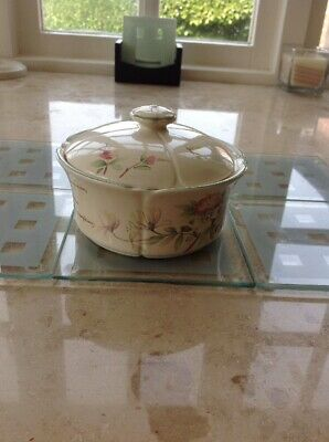 Country Diary Collection By Royal Winton Dish With Lid Honeysuckle Roses VGC
