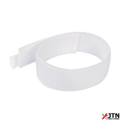 10 Pack Fixman 675221 Hook & Loop Cable Ties White 25mm x 300mm