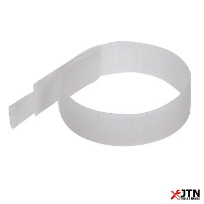 10 Pack Fixman 849309 Hook & Loop Cable Ties White 25mm x 150mm