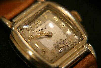 Very rare vintage 1940's Lancet (Langendorf) gold dress wristwatch running great