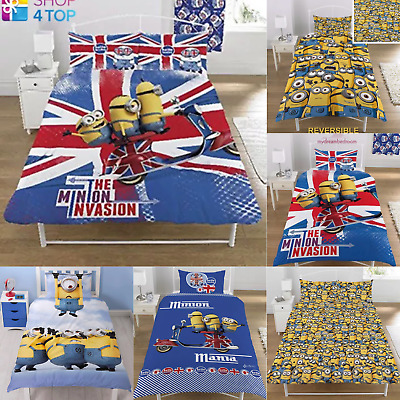 * REDUCED * Despicable Me Minions Single & Double Duvet Cover Kids Bed Sets
