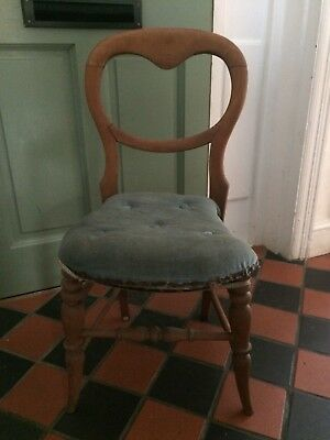 Victorian balloon back kitchen/bedroom chair