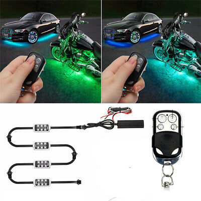 Car Motorcycle Neon Brake Light Atmosphere Lamp LED Wireless Remote Control