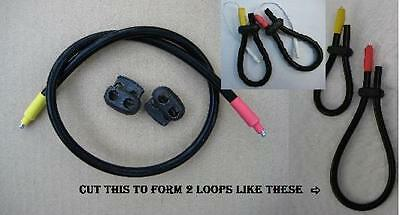 2 Conductive rubber loop electrodes Tens Estim-for Snaps, (6.5mm tube)