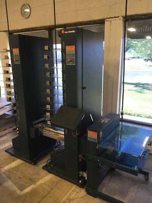 Bourg BST 10-d+, 20 Pocket Collator with Bourg TD-T Receding Stacker