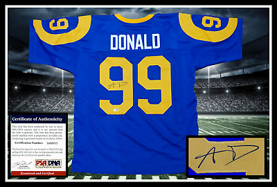 3d32dcfc4f9 AARON DONALD autographed signed LOS ANGELES RAMS throwback PSA coa JSA