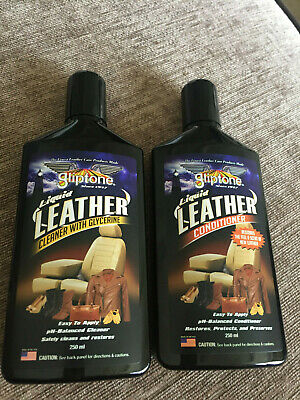 Gliptone Leather Duo- Cleaner and Conditioner GT11 & GT12 250ml NEW, IMPROVED !!