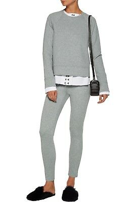 NWT Theory Shawn Stretch-Jersey Leggings Melange Grey Size S $200