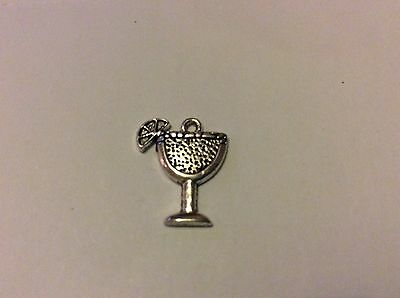 398 10 20 or 50 Antique Silver Tibetan 17mm Wine Glass Cocktail Charm Pendant