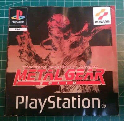 Metal Gear Solid (Sony PlayStation, 1998) PAL UK Manual Only Free Postage