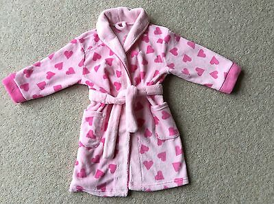 Girls Dressing Gown From Mothercare Age 3-4 Pretty Dressing Gown