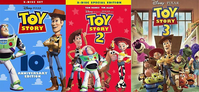 Toy Story Trilogy DVD Complete Set 1, 2, 3 ( All 3 Movies)