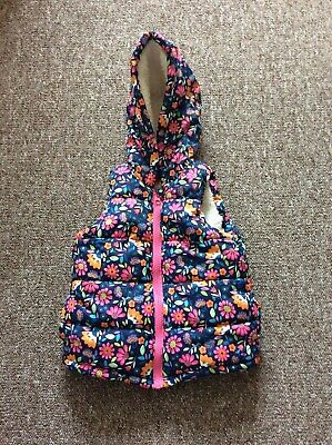 Girls colourful Gilet, age 18-24 months