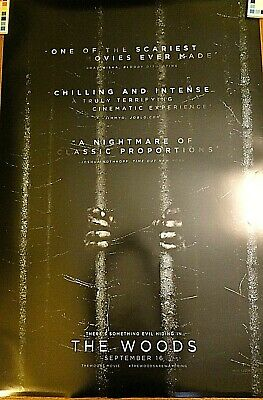 """BLAIR WITCH (AKA """"THE WOODS"""") - BLACK Movie poster, 2-sided, 27 x 40"""", unused"""