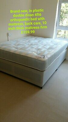 Extra firm orthopaedic double 4ft6 bed with mattress back care firm