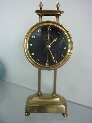 Antique Brass Gravity Clock Working pat 15238/19           12047