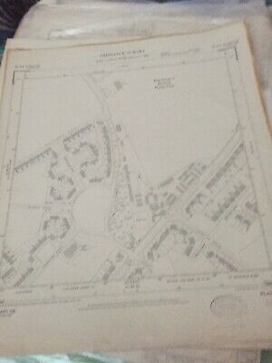 Genuine Authentic Ordnance Map Of Huyton Lane Longview Lane Huyton Liverpool