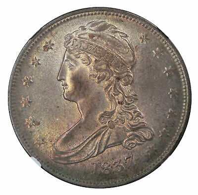 1837 50C Reeded Edge Capped Bust Half Dollar MS64 NGC 579861-011