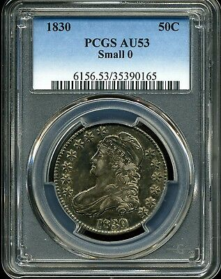 1830 Small 0 50C Capped Bust Half Dollar AU53 PCGS 35390165