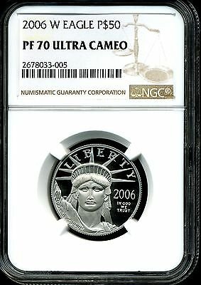 2006-W P$50 Proof Platinum .5 oz American Eagle PF70 Ultra Cameo NGC 2678033-005
