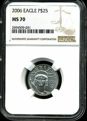 2006 P$25 Platinum 1/4 oz American Eagle MS70 NGC 2694509-031