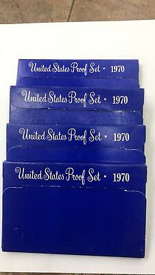 1970 S United States Proof Set (Lot Of 4)