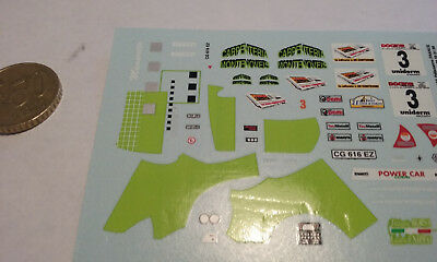 decals decalcomanie deco renault clio s1600 rallye pilote rally turin 1/43