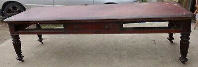 Huge Victorian Mahogany Library Table - For Restoration, 8 ft 7 inches wide