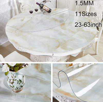 PVC Clear Round Table Protector Transparent Tablecloth Waterproof Soft Glass Mat