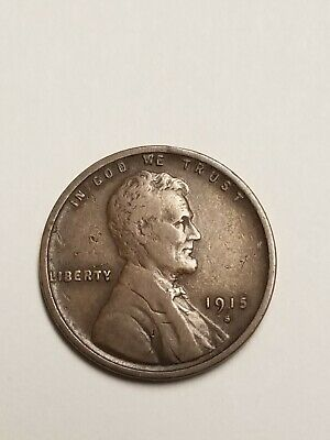 1915-S San Francisco Mint Copper Lincoln Wheat Cent. See Pics NICE Penny