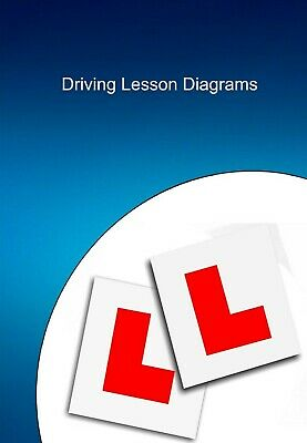 Driving instructor lesson plan diagrams - wire bound A4 size