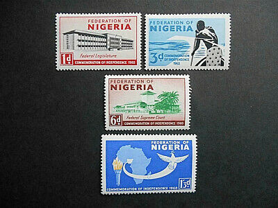 Nigeria 1960 Independence MNH set SG 85-88 (see photos) Federal Building, Map
