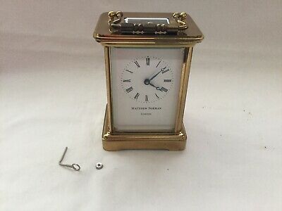 Vintage Matthew Norman London Carriage Clock Needs Attention